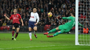 Heung-Min Son scores Spurs' third