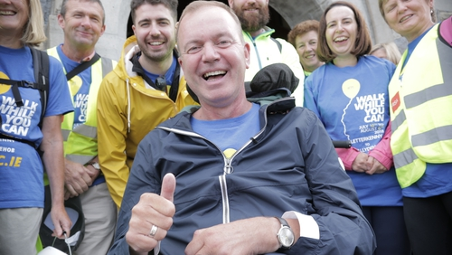 Fr Tony Coote set off on a month-long charity walk in July 2018