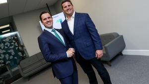 Martin Shanahan, IDA Ireland's CEO and Brian Murphy CEO and founder ReliaQuest at the launch of the company's new Dublin offices