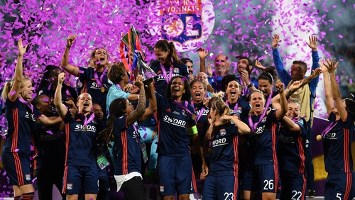 Olympique Lyonnais won the Champions League trophy back in May