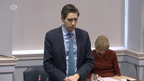 Minister for Health Simon Harris addressed the Seanad