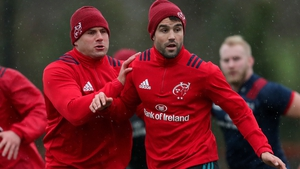 Munster's CJ Stander and Conor Murray in training ahead of Sunday's date with Castres