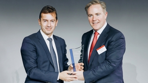 Incoming Airbus CEO Guillaume Faury and Avolon CEO Dómhnal Slattery