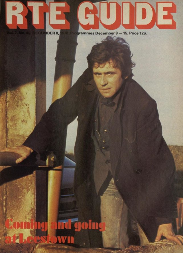 Gabriel Byrne as Pat Barry on the cover of the RTÉ Guide on 8 December 1978