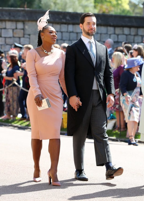 Williams and her husband Alexis Ohanian at Meghan's wedding earlier this year (Gareth Fuller/PA)
