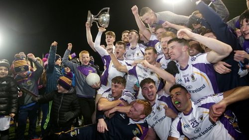 Kilmacud Crokes players celebrate their Dublin county success in October