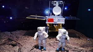 A scale model of the Chang'e-4 lunar probe