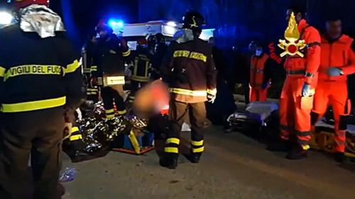 Revellers dies in nightclub stampede in Italy