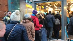 More than 1,000 shoppers queued for the opening of a new Primark store