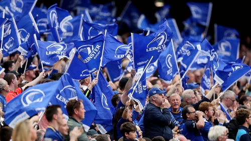 Leinster supporters were not allowed to distribute flags to travelling fans in the ground before Saturday's Heineken Champions Cup clash at Bath