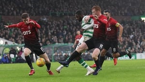 Odsonne Edouard fires home Celtic's second goal