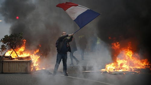 Around 125,000 people are protesting across France today