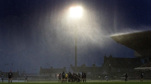 The Sportsground was battered by wind and rain