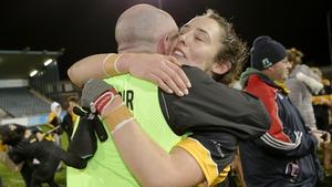 Mourneabbey manager Shane Ronayne embraces Roisin O'Sullivan
