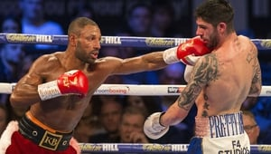 Kell Brook (L) turned his attentions to Amir Khan