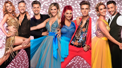 Stacey Dooley and Kevin Clifton Ashley Roberts and Pasha Kovalev Joe Sugg and Dianne Buswell and Faye Tozer and Giovanni Pernice will compete for the glitterball trophy next weekend