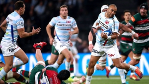 Simon Zebo spins out of a tackle en route to scoring against Leicester in the Champions Cup tie