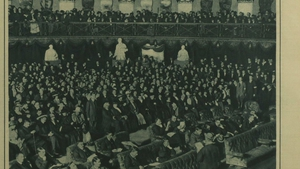 Opening of Dáil Eireann in the mansion house, 21 January 1919.