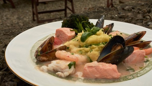 Atlantic Seafood in a Coconut Broth