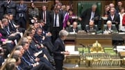 Theresa May addresses the House of Commons in Westminster