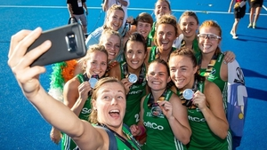 Ireland's players celebrate with a selfie at the world cup