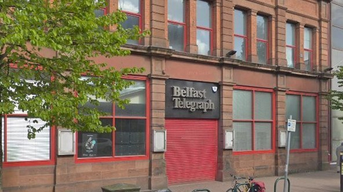 The journalist who was threatened works for the Belfast Telegraph