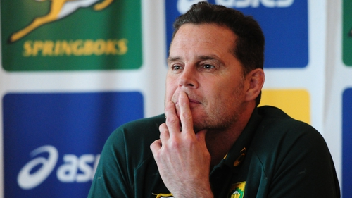 Rassie Erasmus will stay with improving South Africa until after the World Cup