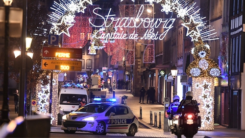 The shooting took place near Strasbourg's Christmas market