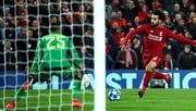 Mo Salah take aim to score the only goal at Anfield