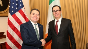 Paschal Donohoe met with Steven Mnuchin this evening