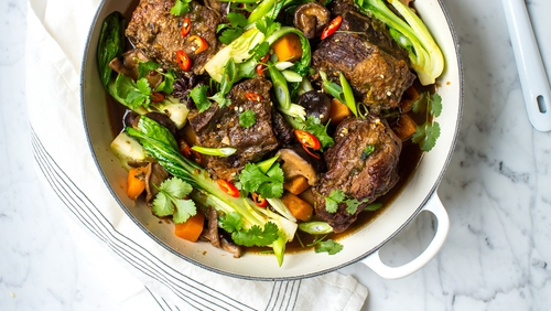 Asian beef rib stew.