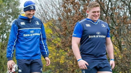 Girvan Dempsey (L) with Tadgh Furlong back in 2015