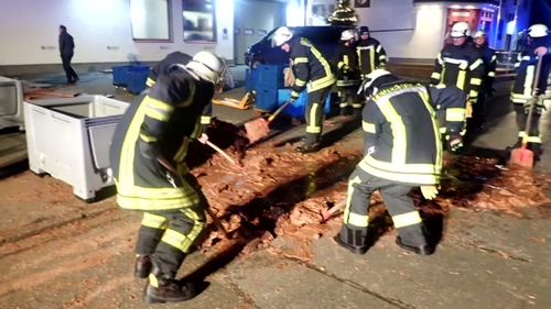 Chocolate factory's delicious mishap 'repaves' road in Germany
