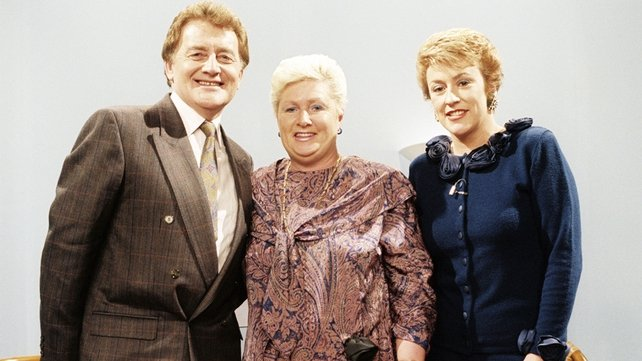 Larry Gogan, Florrie Gogan and Bibi Baskin (1988)