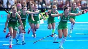 Ireland go wild after Gillian Pinder's winning penalty