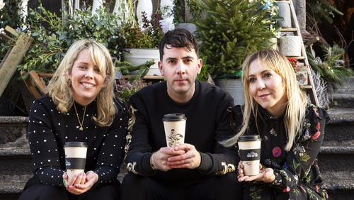 Joe Caslin is among the artists who designed cups for the charity initiative