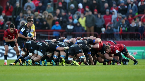 Munster had the upper hand on Castres in the scrum at Thomond Park