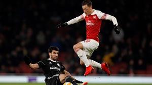 Mesut Ozil hasn't featured for Arsenal yet this season