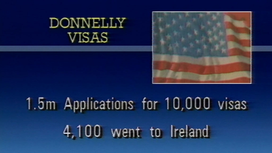Details of Donnelly Visas for living and working in the United States of America (1989)