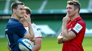 Leinster skipper Johnny Sexton, left, and Munster captain Peter O'Mahony will be in the thick of European action this weekend
