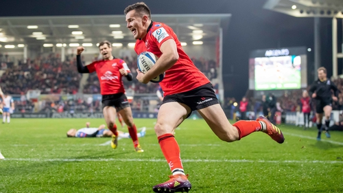 Jacob Stockdale was among the tries for Ulster at Kingspan Ravenhill