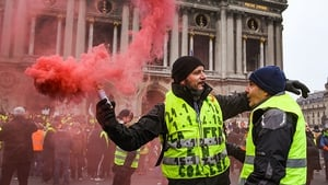 Police outnumbered the protesters by nearly 4-1 in Paris today