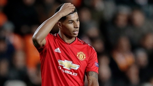 Rashford scored in Manchester United's 2-1 defeat in Valencia during the week