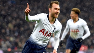 Christian Eriksen, introduced from the bench, won it in the first minute of time added