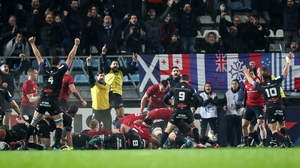 The Castres pack powered over for the game's only try on 24 minutes