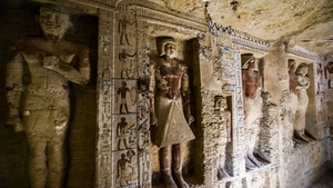 Officials said the tomb was unique because of the statues and its near perfect condition