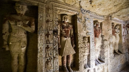 Egypt shows off stunning newly discovered 4000-year-old tomb in Saqqara