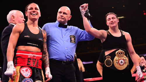 Katie Taylor beats Eva Wahlstrom to defend world titles in NY