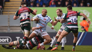 An early blitz saw Racing 92 to an emphatic victory over Leicester bin Welford Road
