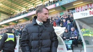 Brendan Rodgers remained second in the table after a 2-0 loss away to Hibernian this afternoon